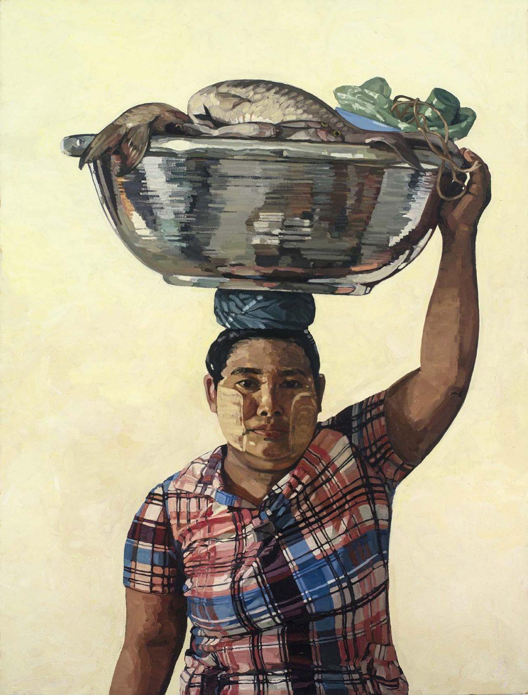 AYE AYE WIN (WOMAN WITH FISH ON HER HEAD)