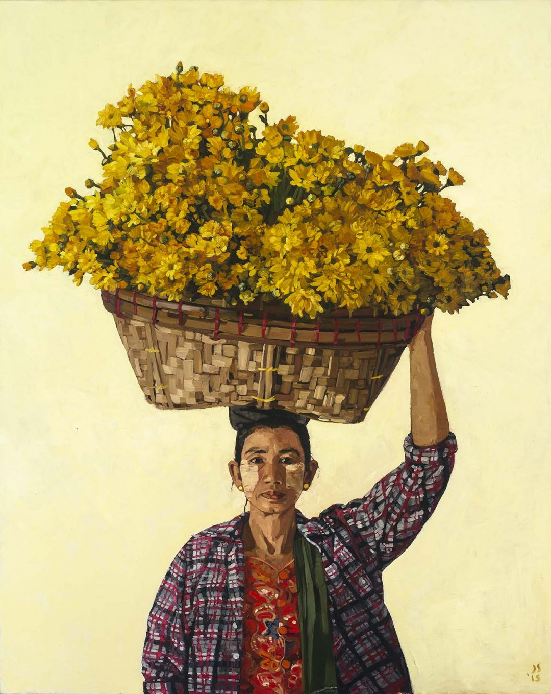 MIN MIN MON (WOMAN WITH FLOWERS ON HER HEAD)