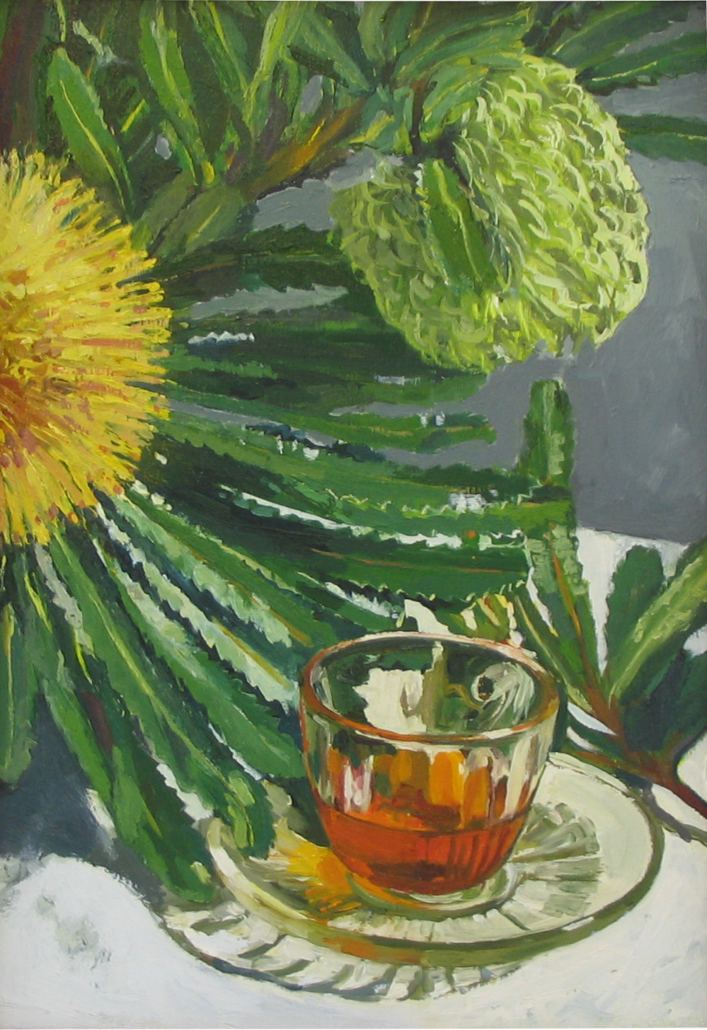 BANKSIA WITH TEACUP