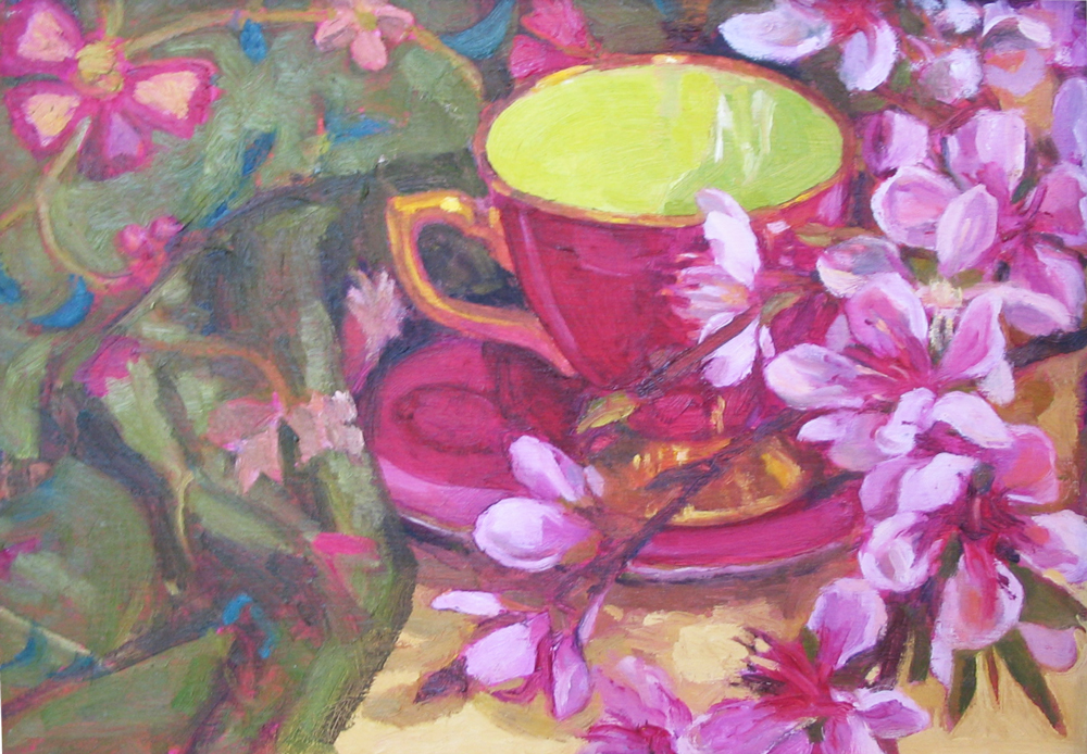 TEACUP WITH BLOSSOMS