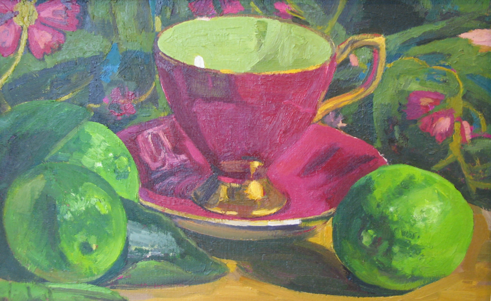 TEACUP WITH LIMES