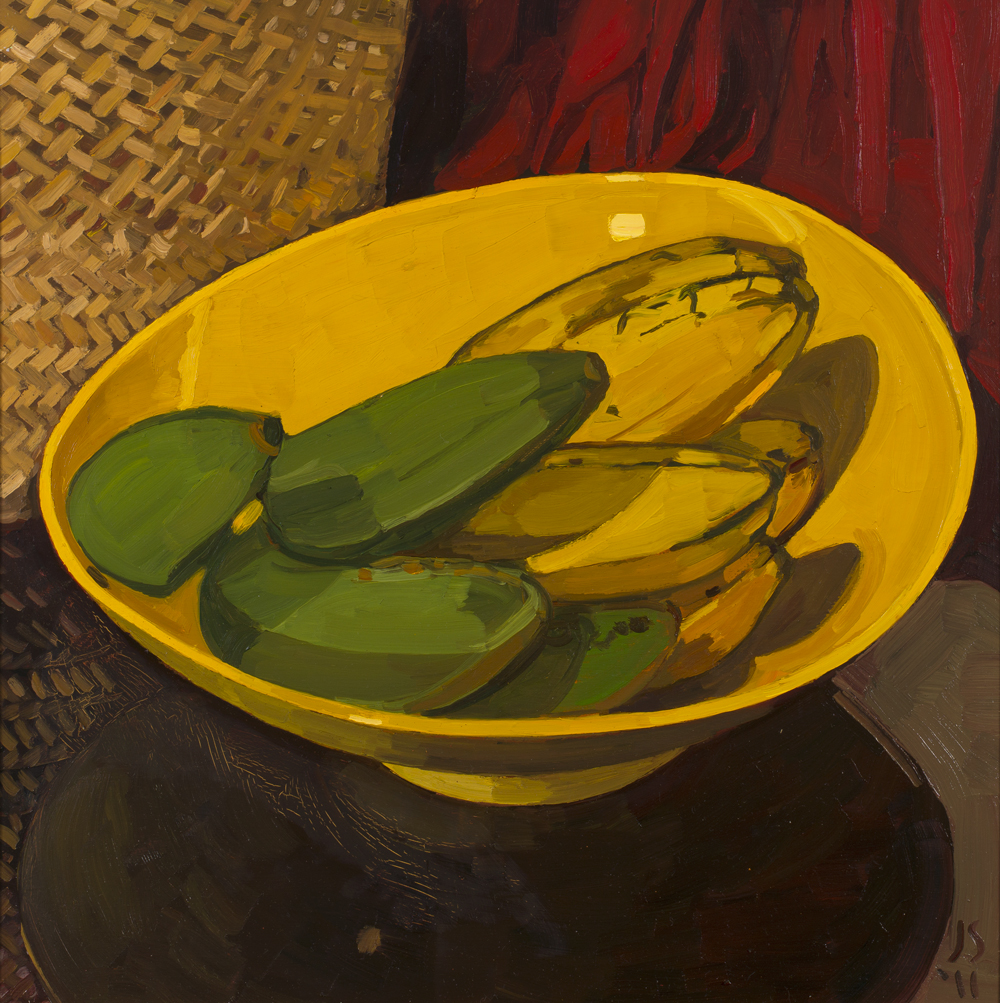 BANANAS IN YELLOW BOWL